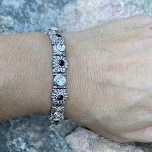 ⚡️Rhinestone and onyx stretch bracelet